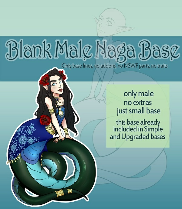 [P2U] Blank Male Naga Base for Adoptables