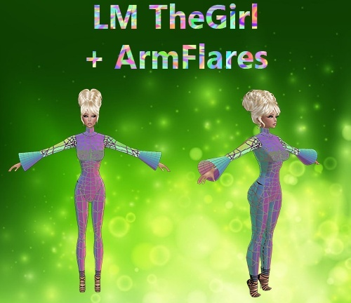 The Girl & Arm Flares Mesh Catty Only!!!