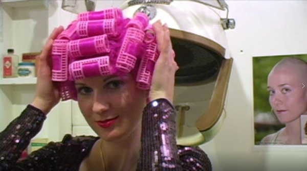 Kat's Roller Set Pink Wig under the Dryer - VOD Digital Video on Demand