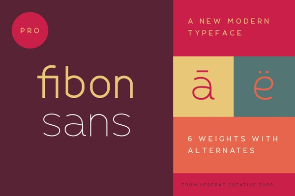 Fibon Sans Regular Weight Free