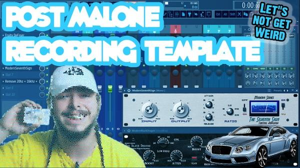 Post Malone Recording Template