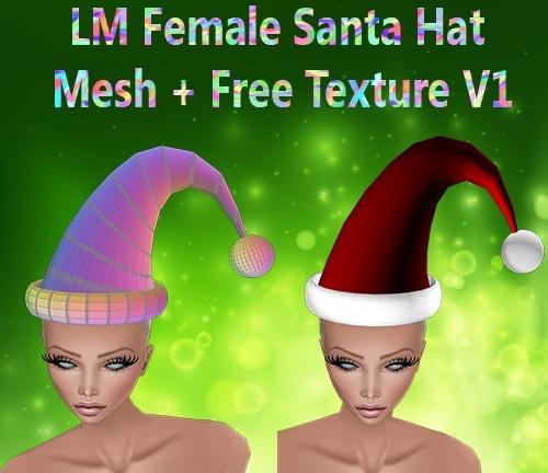 Female Santa Hat V1 & V2 Mesh Catty Only!!!