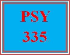 PSY 335 Week 2 Proposal Worksheet