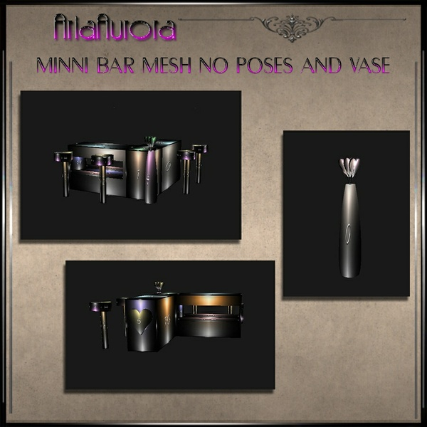 Mesh Valentine Mini Bar no pose+ Vase.No Resell