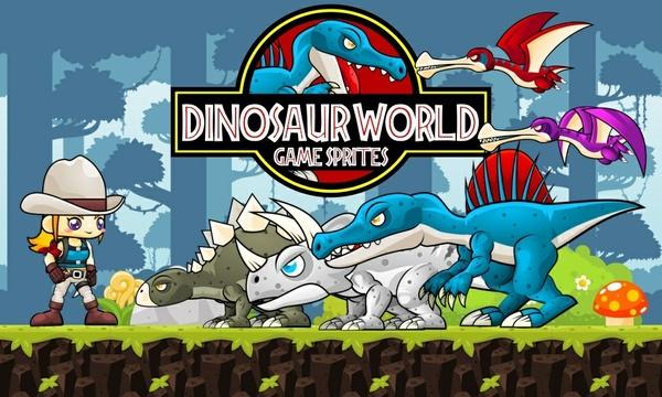 Dino World - Game Sprites