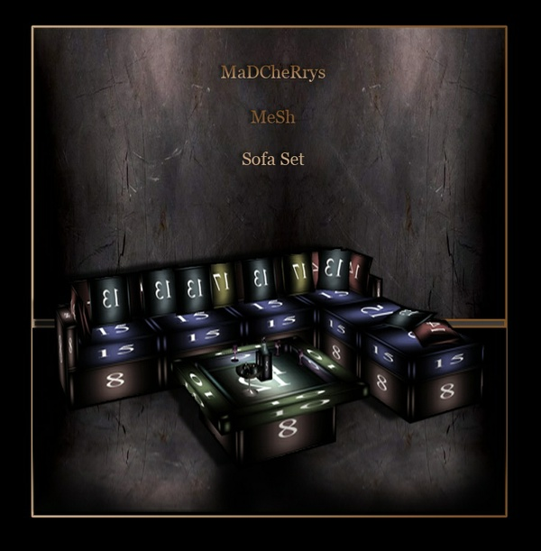 MaD Mesh 2 files sofa set reflective and no