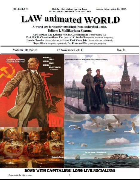 LAW ANIMATED WORLD 15 November 2014 October Revolution Special issue
