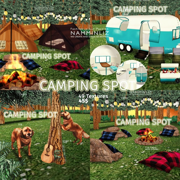Camping Spot Home Decor 49 Textures 3/4