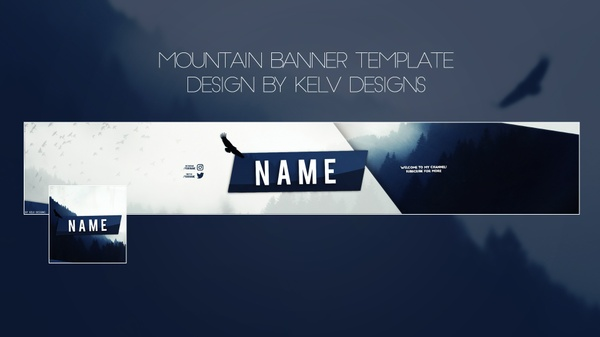 Youtube Template Banner. 20 best youtube banner templates. free ...