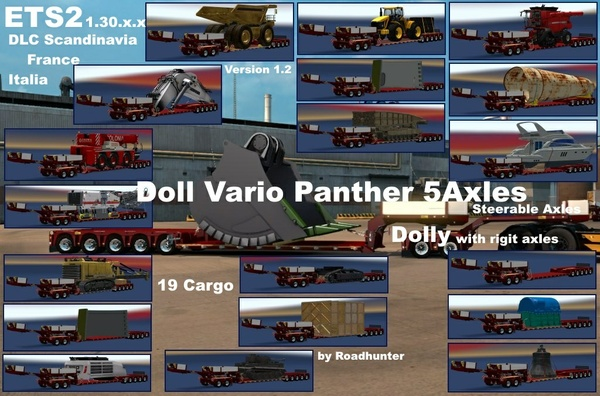 Doll Vario 5 Axle + Dolly Pack _V1.2 /ready for ETS2 1.30.x.x