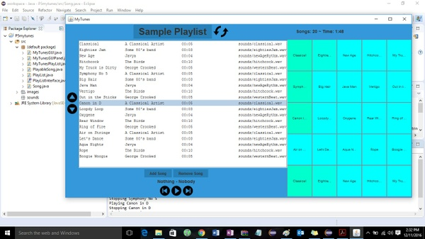 P5: MyTunes GUI Solution