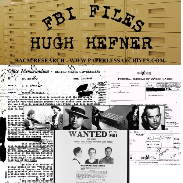 Hugh Hefner - Playboy Magazine/Playboy Enterprises FBI Files