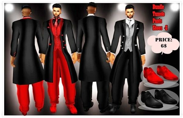 tuxedo Black and Red