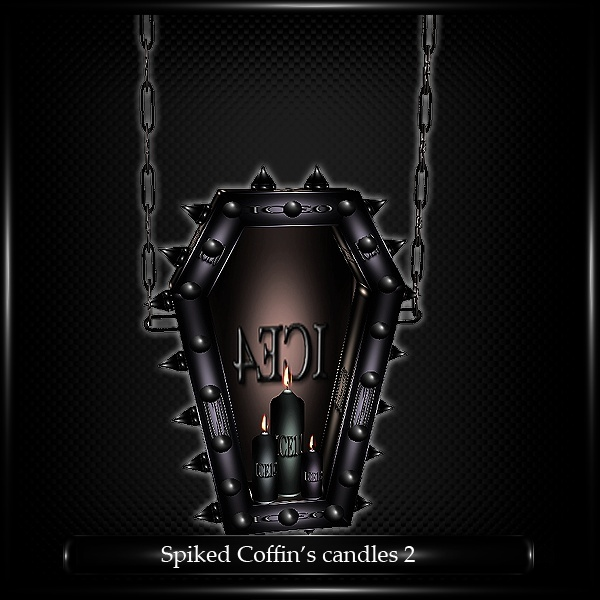 Spiked Coffin Candles Mesh v.2