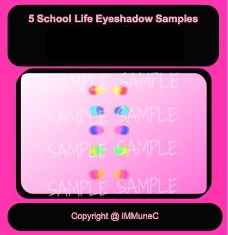 5 School Life Eyeshadows Instant Makeup