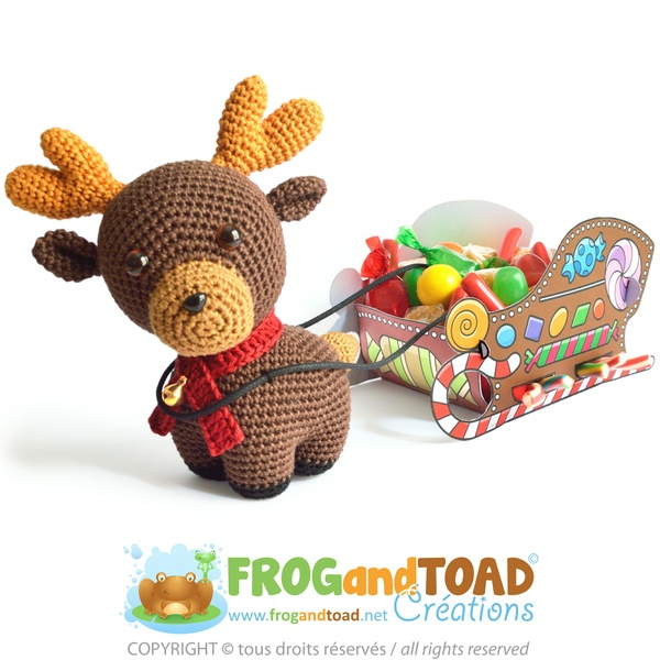 Renne / Reindeer - (Rudolph) Amigurumi Crochet - PDF Patron / Pattern - FROGandTOAD Créations ©