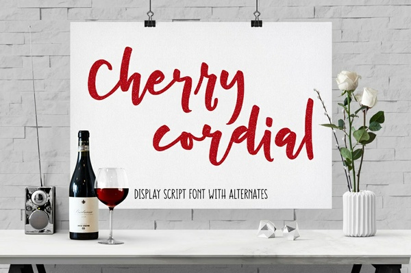 Cherry Cordial: script display font!