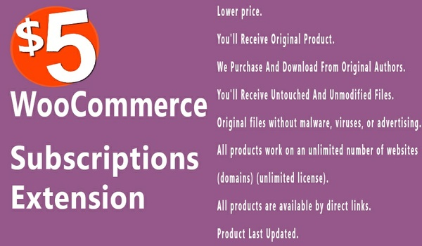 WooCommerce Subscriptions 2.2.18 Extension