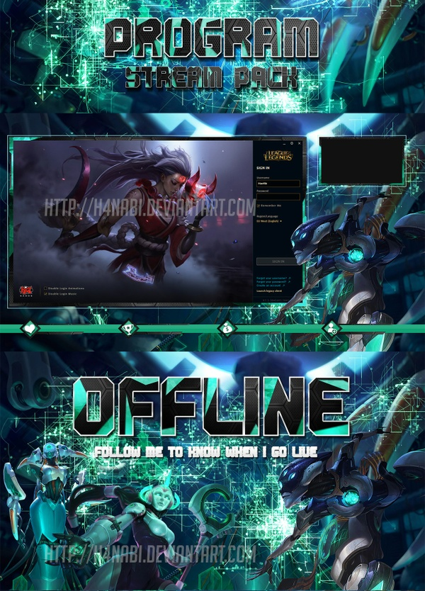 League of Legends PROGRAM STREAM PACK Overlays
