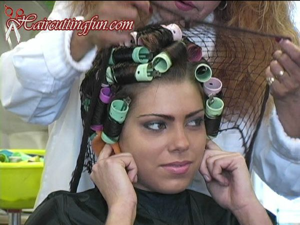 Leah's Roller Set and Backcombing