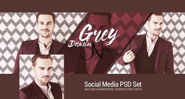 Social Media PSD Set
