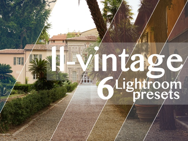 6 VINTAGE LIGHTROOM PRESETS | for raws & jpegs