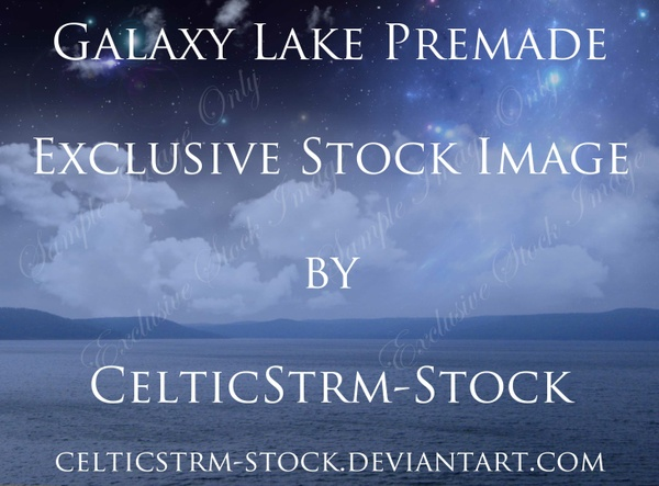 Galaxy Lake Premade Background