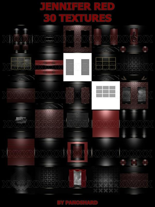 JENNIFER RED 30 TEXTURES IMVU ROOM