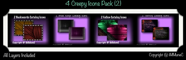 8 Creepy Icons (Set 2) With Resell Rights