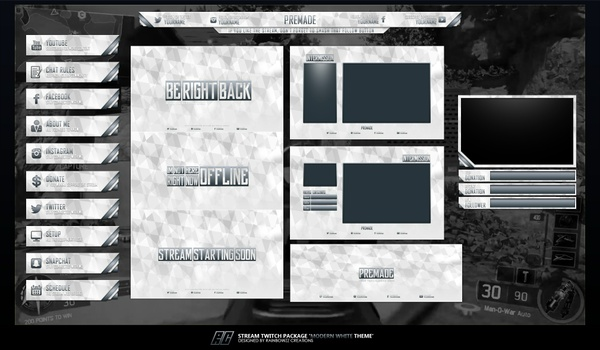 Modern White Twitch Package