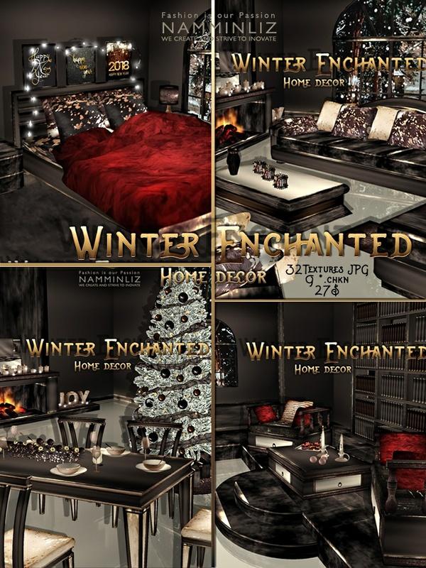 Winter Enchanted Home decor 32 Textures JPG 9*.CHKN imvu NAMMINLIZ