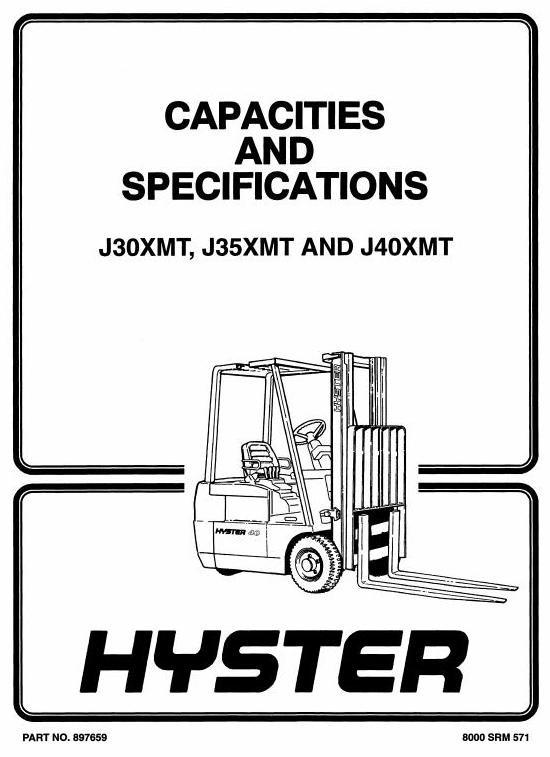 Hyster Forklift Truck Type C160: J30XMT, J35XMT, J40XMT Workshop Manual