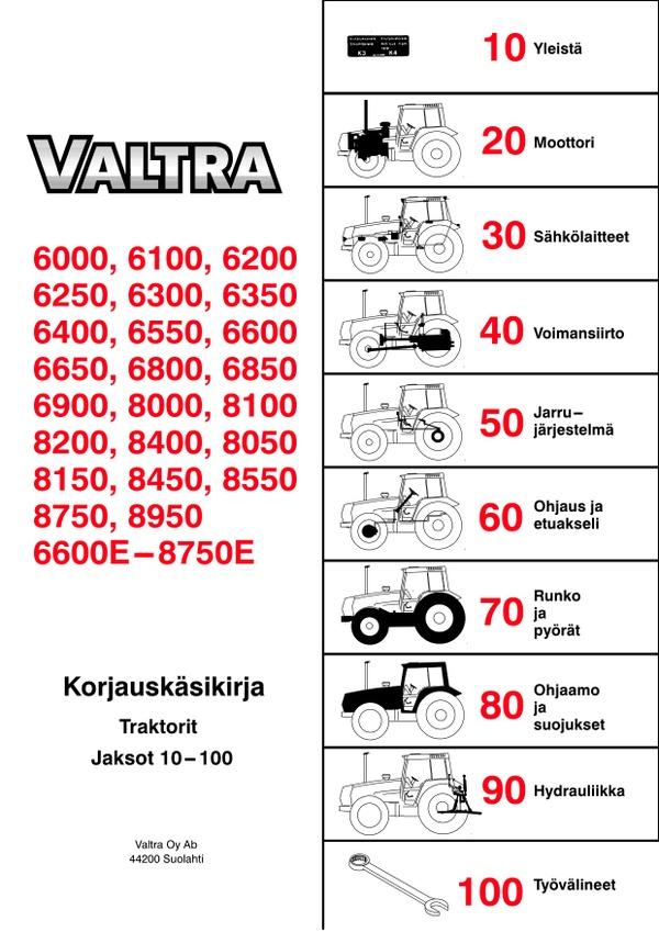 Valtra 6000 ja 8000-sarjojen korjaamokäsikirja