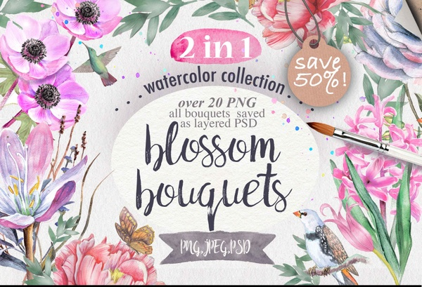 Blossom bouquets 2 in 1 pack