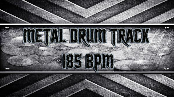 Metal Drum Track 185 BPM