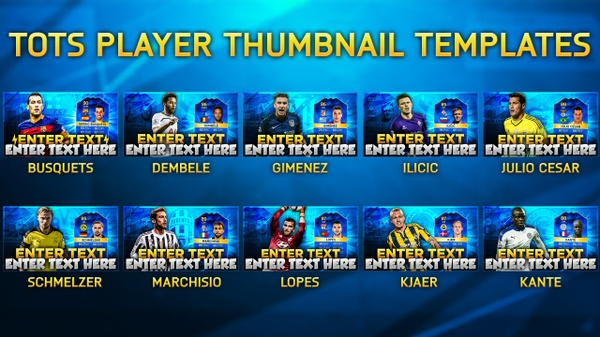 FIFA 16 MOST CONSISTENT TOTS PLAYERS THUMBNAIL PACK