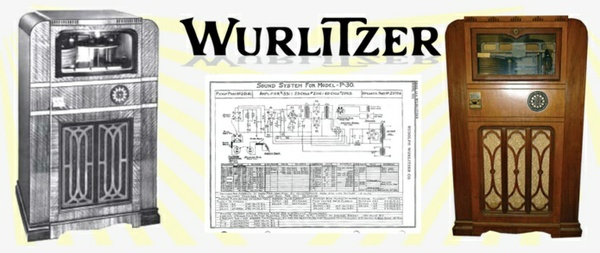 Wurlitzer Model P-30  (1935) Sound System Schematics