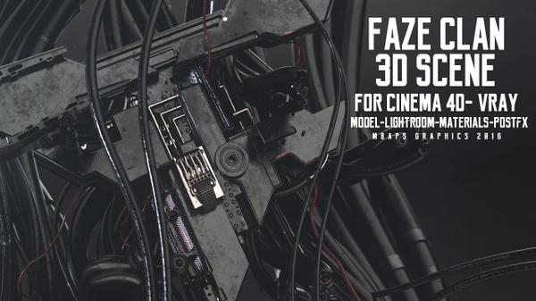 FaZe Clan -3D Scene (VRAY)