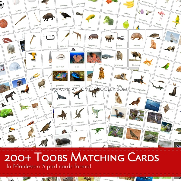 200+ Toobs Matching Cards Bundle Pack (3 Part Cards Format)