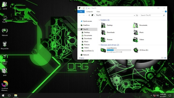 Alienware Invader Green IconPack