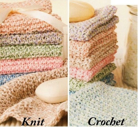 Knit Crochet Facecloths