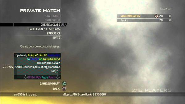 Infection CFG Modern Warfare 2