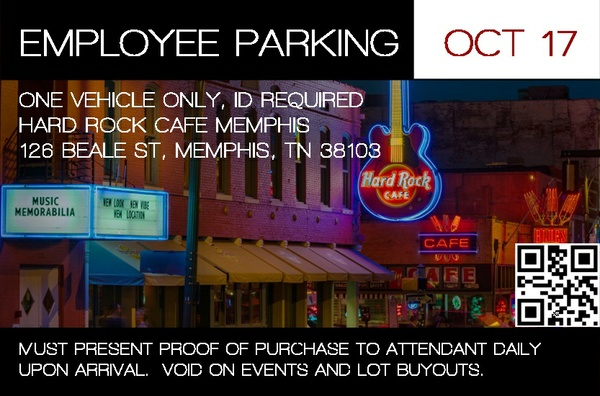 Hard Rock Memphis Employee Permit - October 2017
