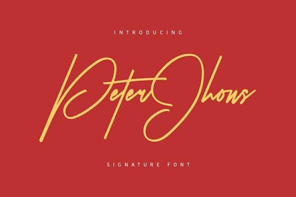 Peter Jhons Typeface