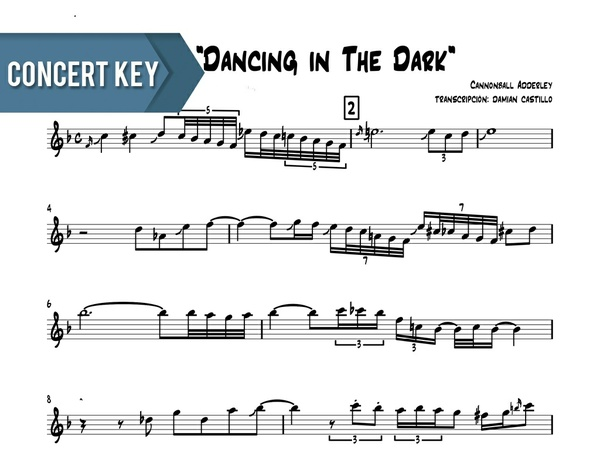 "Cannonball Adderely - ""Dancing In The Dark"" - Concert Key"
