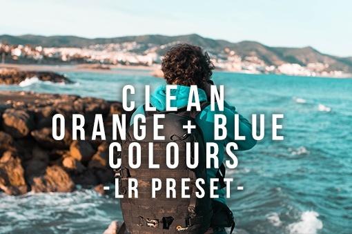 Orange + Blue Colours - Lightroom Preset
