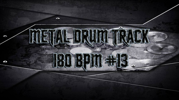 Metal Drum Track 180 BPM #13 - Preset 2.0