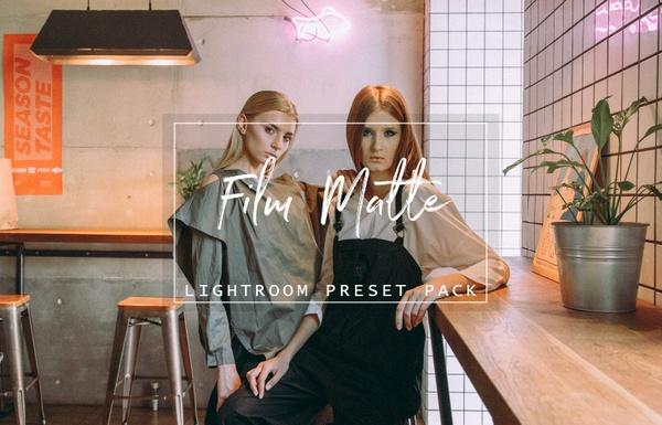 Film Matte Lightroom Presets, Lightroom Overlay, Film Preset, Portrait Preset, Lightroom CC