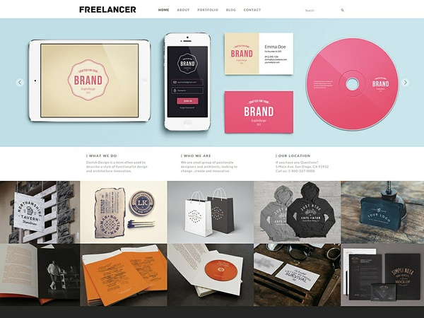 Freelancer Responsive WordPress Theme