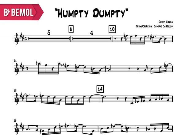 """Chick Corea - """"Humpty Humpty"""" - Bb"""